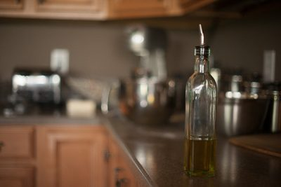 Free Stock Photos for Blogs - Olive Oil on the Kitchen Counter