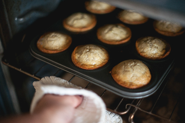 Free Stock Photos for Blogs - Banana Muffins in the Oven