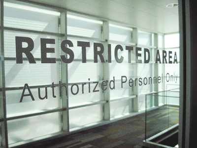 Free Stock Photos for Blogs - Restricted Area Sign 1