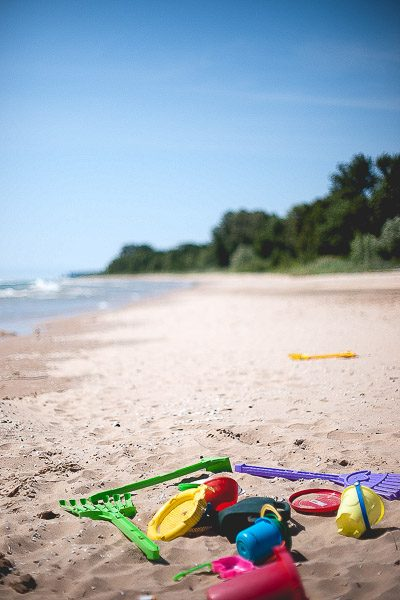 Free Stock Photos for Blogs - Toys on the Beach 1