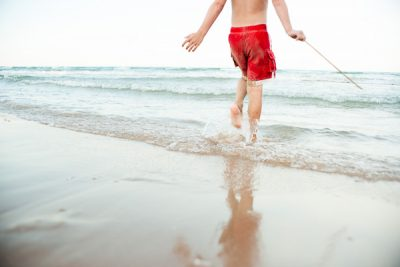 Free Stock Photos for Blogs - Boy Playing at the Beach 1