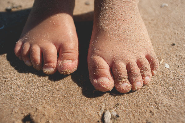 Free Stock Photos for Blogs - Kid Toes in the Sand 1