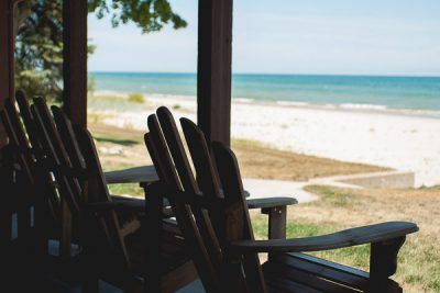Free Stock Photos for Blogs - Adirondack Chairs at the Beach 2