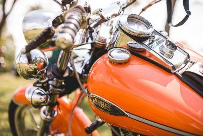 Free Stock Photos for Blogs - Orange Harley Davidson Motorcycle 1