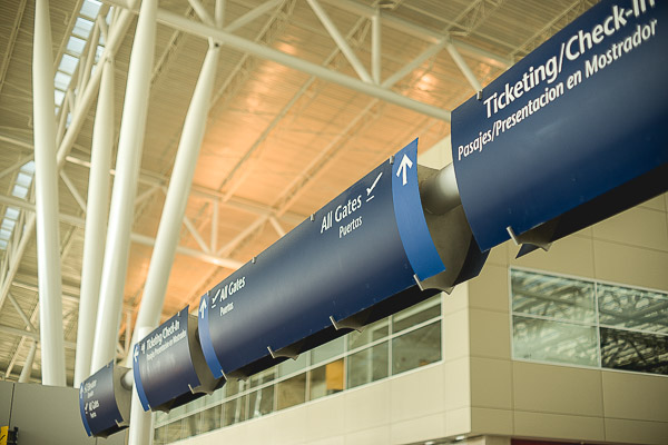 Free Stock Photos for Blogs - Airport Ticketing and Gate Sign 1