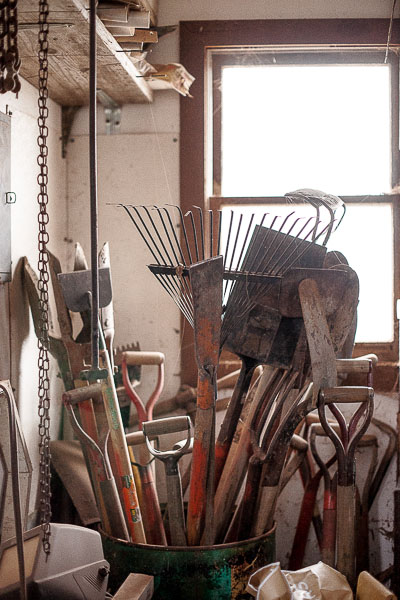 Free Stock Photos for Blogs - Tool Workshop Shovels and Rakes 8