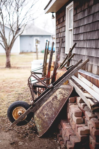 Free Stock Photos for Blogs - Wheelbarrows in a Row 2