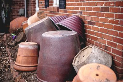 Free Stock Photos for Blogs - Clay Pots in Winter 2