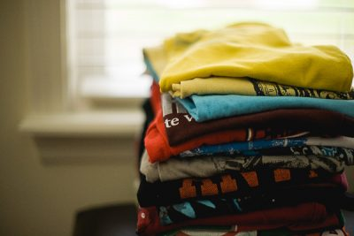 Free Stock Photos for Blogs - Stack of Folded T-Shirts 1