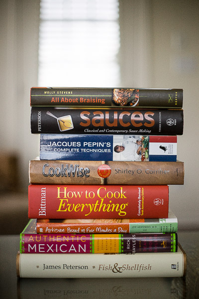 Free Stock Photos for Blogs - Stack of Cookbooks 1