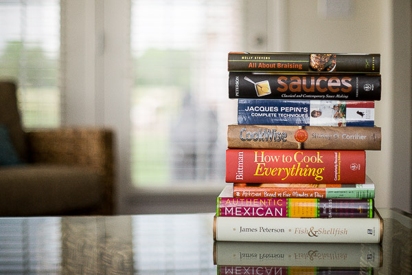 Free Stock Photos for Blogs - Stack of Cookbooks 7