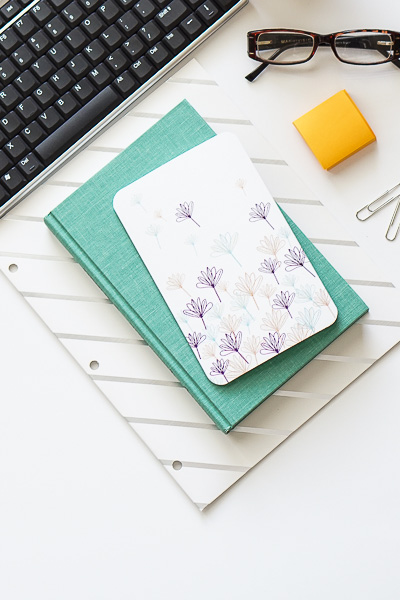 Free Stock Photos for Blogs - Teal and Yellow Office Desk 3