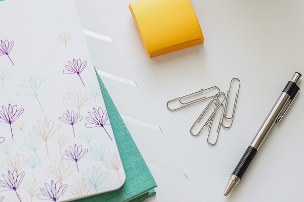 Free Stock Photos for Blogs - Teal and Yellow Office Desk 5
