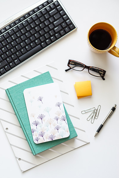 Free Stock Photos for Blogs - Teal and Yellow Office Desk 6