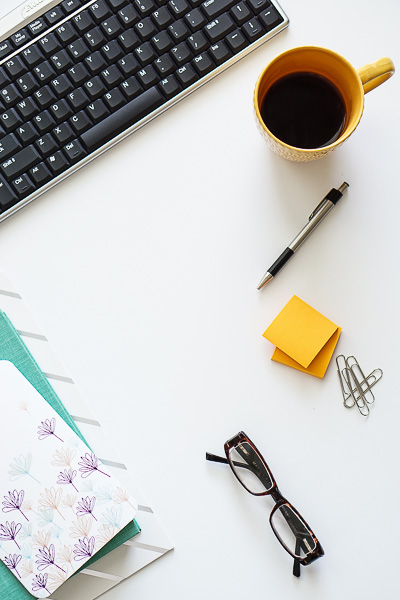 Free Stock Photos for Blogs - Teal and Yellow Office Desk 10