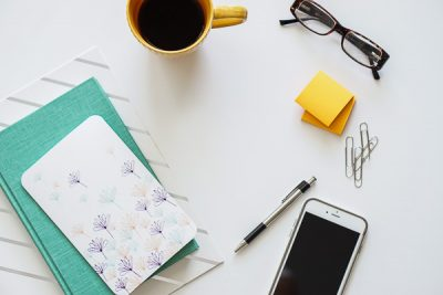 Free Stock Photos for Blogs - Teal and Yellow Office Desk 14