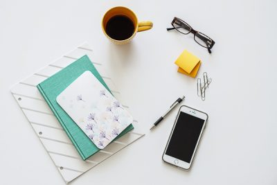 Free Stock Photos for Blogs - Teal and Yellow Office Desk 15