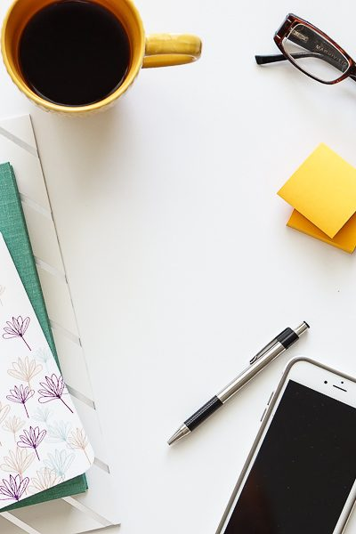 Free Stock Photos for Blogs - Teal and Yellow Office Desk 18