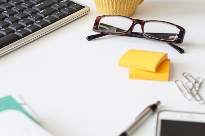 Free Stock Photos for Blogs - Teal and Yellow Office Desk 28