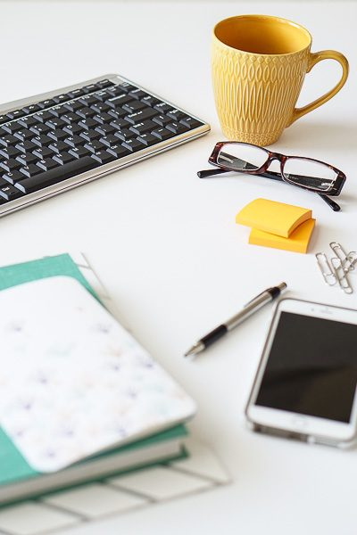 Free Stock Photos for Blogs - Teal and Yellow Office Desk 29