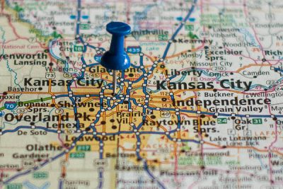 Free Stock Photos for Blogs - Kansas City Missouri Pinpoint on a Map