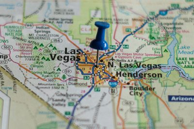 Free Stock Photos for Blogs - Las Vegas Nevada Pinpoint on a Map