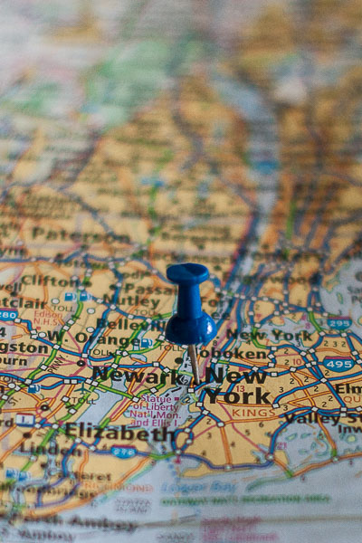 Free Stock Photos for Blogs - New York City Pinpoint on a Map