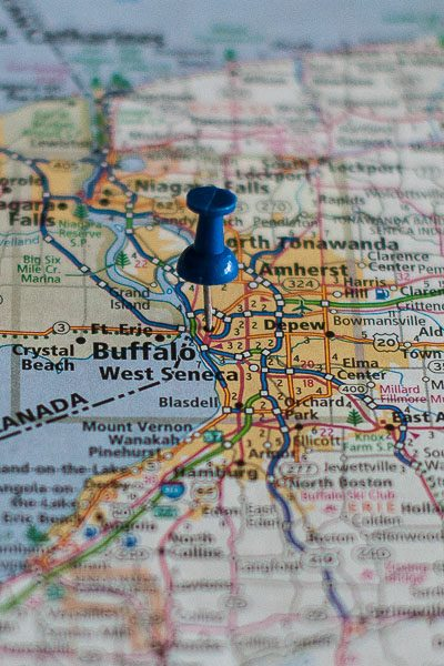 Free Stock Photos for Blogs - Buffalo New York Pinpoint on a Map