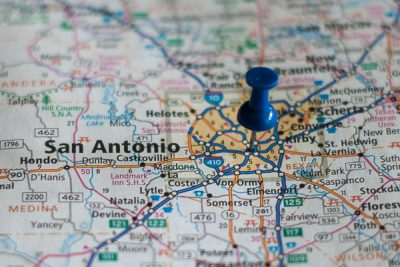 Free Stock Photos for Blogs - San Antonio Texas Pinpoint on a Map
