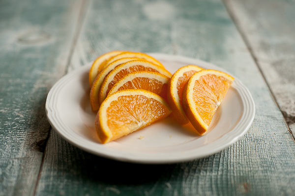 Free Stock Photos for Blogs - Cut Oranges on a Plate 1