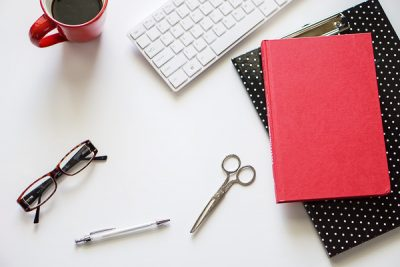 Free Styled Stock Photos for Blogs - Black Red Office Desk 4