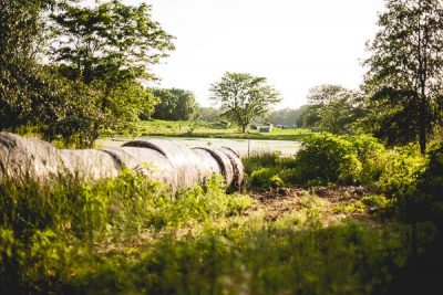 Free Stock Photos for Blogs - Hay Bales on the Farm 1