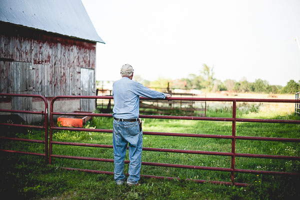 Free Stock Photos for Blogs - Farmer at the Fence 1