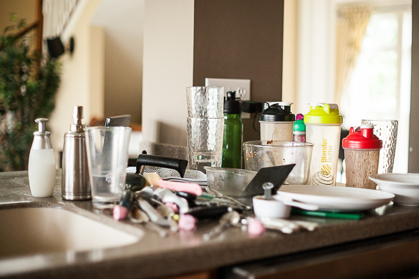 Free Stock Photos for Blogs - Messy Kitchen Counter 1