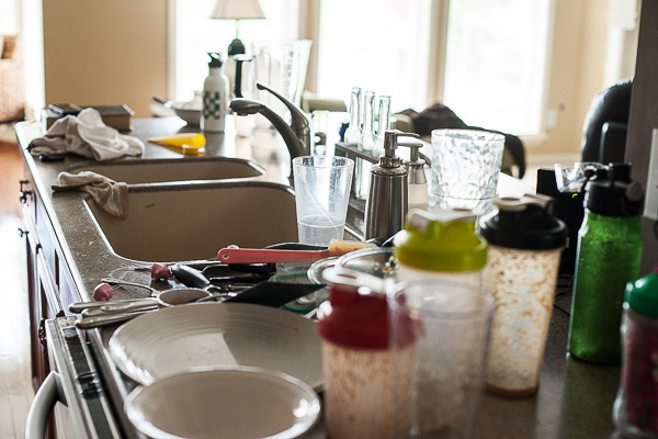 Image result for messy kitchen counter