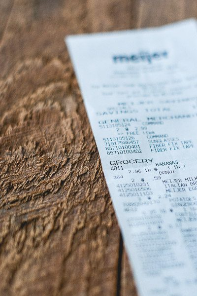 Free Stock Photos for Blogs - Grocery Receipt 3