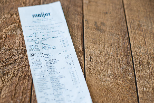 Free Stock Photos for Blogs - Grocery Receipt 4