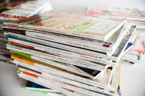 Free Stock Photos for Blogs - Stack of Magazines 4