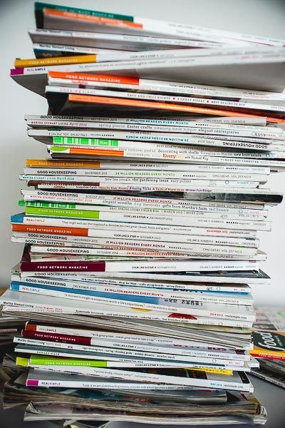 Free Stock Photos for Blogs - Stack of Magazines 5
