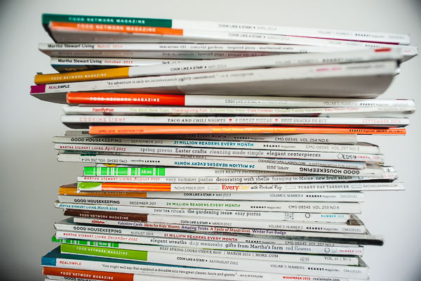Free Stock Photos for Blogs - Stack of Magazines 6