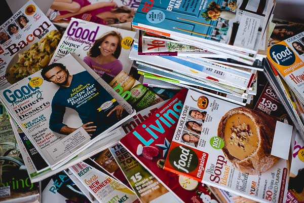 Free Stock Photos for Blogs - Stack of Magazines 12