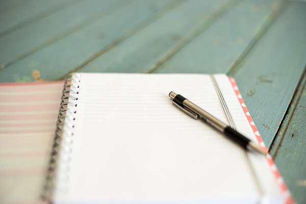 Free Stock Photos for Blogs - Notebook and Pen 1