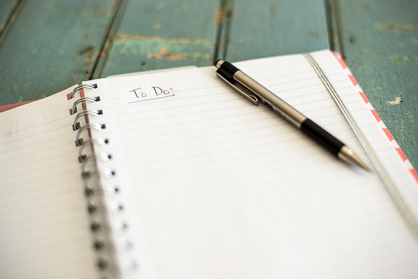 Free Stock Photos for Blogs - Notebook with To Do List 1
