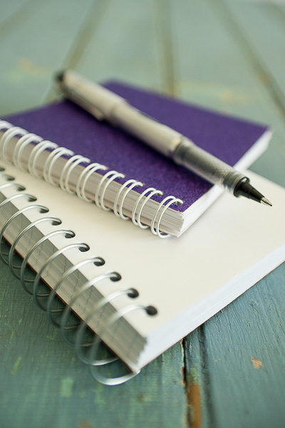 Free Stock Photos for Blogs - Spiral Notebooks and Pen 1