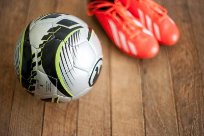 Free Stock Photos for Blogs - Soccer Ball and Cleats 1
