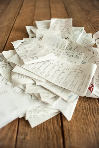Free Stock Photos for Blogs - Pile of Receipts 5