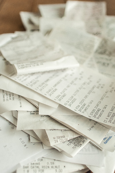 Free Stock Photos for Blogs - Pile of Receipts 6