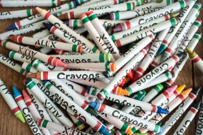 Free Stock Photos for Blogs - Pile of Crayons 1