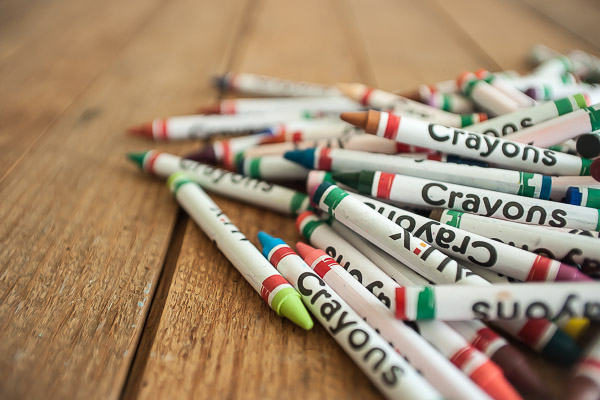 Free Stock Photos for Blogs - Pile of Crayons 2