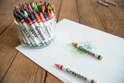 Free Stock Photos for Blogs - Crayons and Paper 1